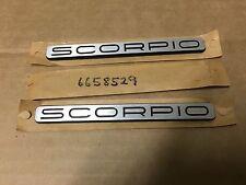 Neuf origine ford-granada scorpio metal badges x 2 ~ nos ~ 6658529