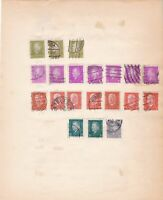 germany 1928 - 1930 period stamps on pages ref 13121