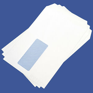 C5 White Window Envelopes Self Seal 90GSM Office Opaque Letter 229mm x 162mm A5