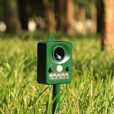 Animal Repellent, Effective Solar Battery Powered Outdoor Ultrasonic Repller