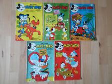 Micky Maus Nr.49 von 1975, Nr.35, 42, 43, 46 von 1978 - Konvolut 5 Comichefte
