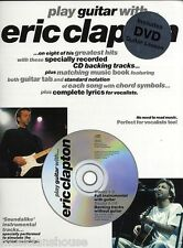 Learn to Play Guitar with Eric Clapton TAB Music Book DVD CD LAYLA BAD LOVE ROCK