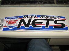 Vintage New Jersey NETS Bumper Sticker Old School Vintage Very RARE