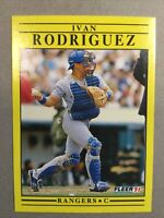 1991 Fleer Update Box Set Ivan Rodriguez #U-62 Rookie HOF