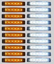 20  x 24V SMD 6 LED FEUX DE GABARIT CAMION CARAVANE CHASSIS REMORQUES