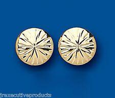 Bottone Orecchini Dorato A Perno lobo in oro giallo 10mm