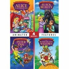 Alice in Wonderland/Black Beauty/Peter Pan/The Wind in the Willows (DVD) new