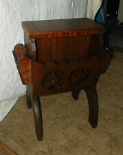 Lone Star Mahogany Magazine Rack End Table / Magazine Side Table  (T344)