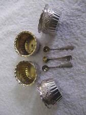 4 salieres, 3 pelles argent sterling Gorham (american silver salt cellars) 78gr