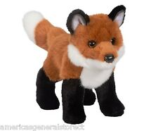 "BUSHY Red Fox Douglas stuffed animal plush 8.5"" long RED FOX Douglas Cuddle toy"