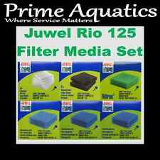JUWEL RIO 125 COMPLETE GENUINE FILTER MEDIA SET  NEW BOXED