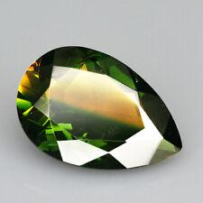 8.4Ct Man Made Bi Color Glass Yellow Green Oval Cut MQYG51