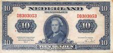 Nederland - Netherlands 10 Gulden 1943 II Wilhelmina Pn 44-1 DB303053