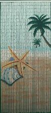 Natural Bamboo Beaded Curtain Star Fish Beach  Window Doors Room Divider New