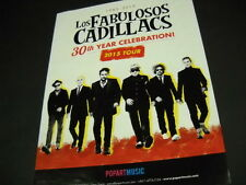 Los Fabulosos Cadillacs 30 year celebration 2014 Promo Poster Ad mint condition