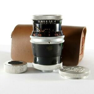 ✅ Paillard Bolex 36mm f2.8 Kern Yvar 8mm D-Mount Movie Camera Lens + Caps & Case