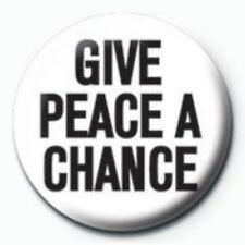 GIVE PEACE A CHANCE beatles / john lennon yoko ono 2007 - BUTTON BADGE generic