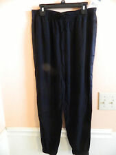 NWT Ralph Lauren girl polo black jogging style pants w/black tuxedo stripe; 16