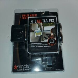 Tablet Mount For Headrest Fits All Tablets Simple Stronghold NEW in package