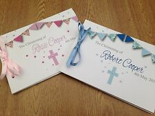 Personalised Guest Book Birthday Christening Boy Girl Naming Day - D2 BUNTING