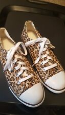 AEROPOSTALE Animal Print Canvas Tie Up Ladies Shoes Size 6.5  # 9574 NWOT