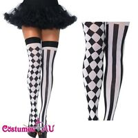 Ladies Harlequin Thigh High Stockings Leg Avenue One Size Costume Accessories