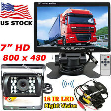 """Wireless IR Night Vision Backup Camera System + 7"""" TFT LCD Monitor for Bus Truck"""