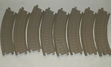8 x CORNER CURVED TRACK BROWN  Tomy Trackmaster Train Thomas Tank Engine Friends