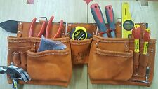 Tyzack 7a Carpenters Tool Work Pouch 12 Pocket Suede Apron Leather