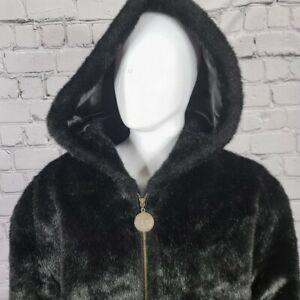 Phat Farm Faux Fur Black Coat, 2XL