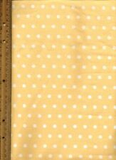 Spring Yellow and White polka dots quilt Quilting Fabric by half yard