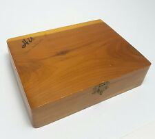Men's Vintage Cedar Jewelry Box - Great Smokey Mountains Trinket Momento