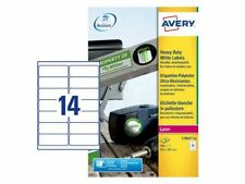 280 Labels per pack - Avery L7063-20 Resistant Labels, 99.1 x 38.1 mm, Free P&P