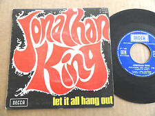 "DISQUE 45T DE JONATHAN KING  "" LET IT ALL HANG OUT """