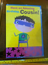 Have An Amazing Birthday Cousin Happy Birthday Super Hero Card & Envelope New