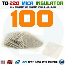 100PCS TO-220 Insulation Pad Sheet Mica Insulator pads-thermal insulation +hole