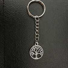 New Customised Silvertone Tree of life Charm Key Chain/Ring 7cm