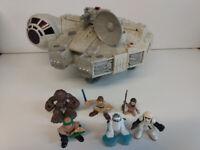 Star Wars Hasbro Playskool Heroes Millenium Falcon + 6 Figures Not Working