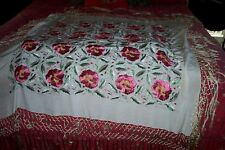 """GEORGEOUS SILK PIANO THROW  6"""" INCLUDING FRINGE"""