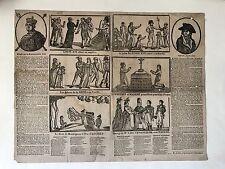 DETAIL SUR SA MAJESTÉ LOUIS XVI IMAGERIE POPULAIRE CIRCA 1793