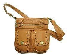 Concealed Handgun Carry Crossbody Brown Handbag