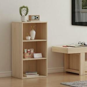 3 Tier Book Shelf Bookcase Storage Shelving Unit Cabinet Books Display Oak New