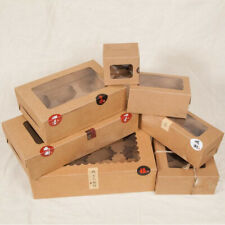Premium Cupcake Box Range 4 hole 6 hole 12 hole Window Face Cases Party 12 Pack