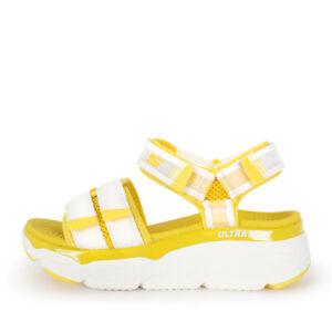 Skechers Max Cushioning Sandal [140424WYL] Women Casual Shoes White / Yellow