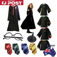 Harry Potter Gryffindor Slytherin Tie Scarf LED Wand Cosplay Costume Set