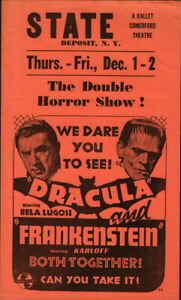 Dracula and Frankenstein show State Deposit Theater Original Movies great images