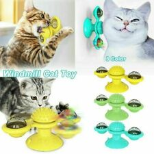 Cat Turning Windmill Toy Turntable Tickle Funny Cat Toys Scratching Hair Brush