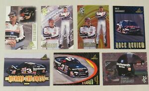 Lot of 7 1997  Dale Earnhardt Trading Cards - NASCAR - Press Pass VIP, Pinnacle
