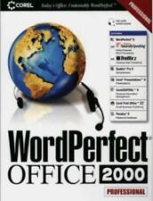 WordPerfect Office 2000 Pro w/ Guide PC CD Quattro Pro 9 Paradox tools suite BOX