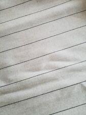 Stoffrest 0,80m MARC CAIN 100% Schurwolle Garbadine beige schwarz Nadelstreifen